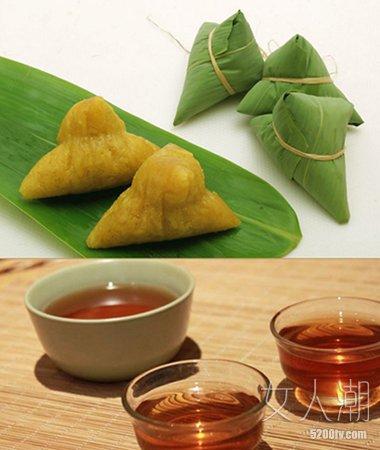 端午吃粽子、喝茶是中华民族的传统习俗